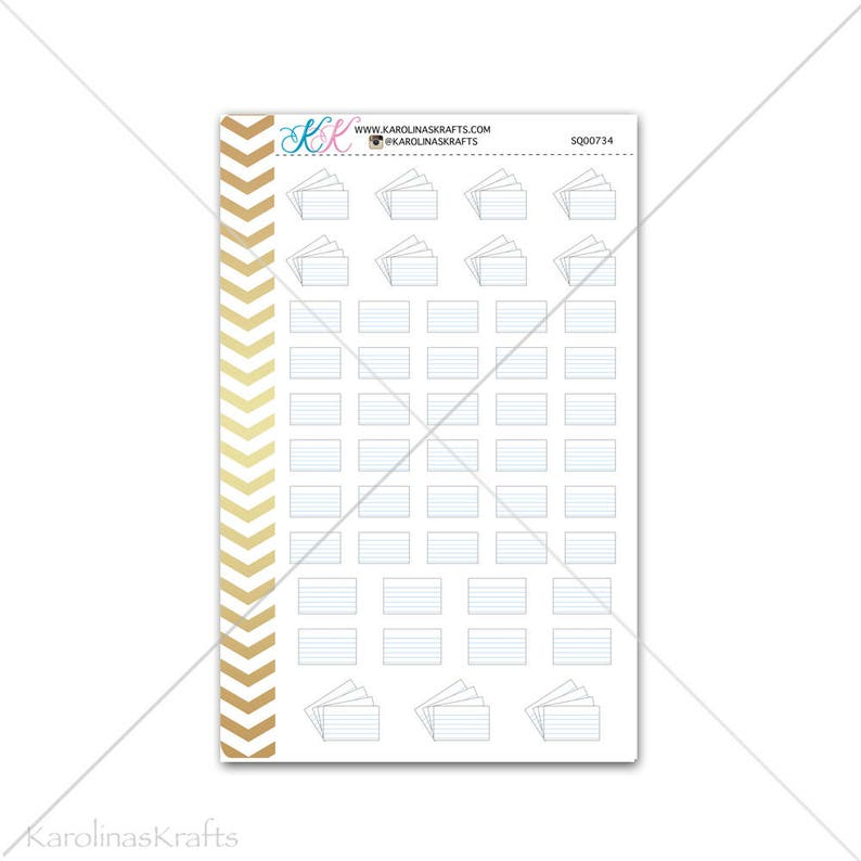 Index Card Stickers for planner calendar Functional planner image 0