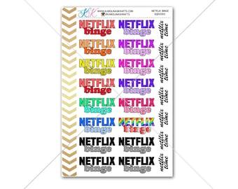 Netflix Binge Stickers for planner, calendar! Functional planner stickers movie sticker functional sticker binge sticker #SQ00083