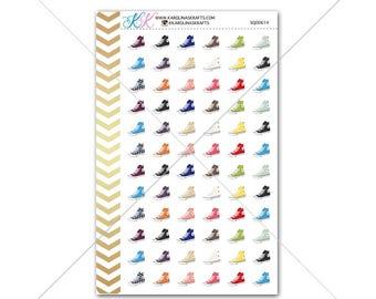 Colorful Sneaker Stickers for planner, calendar! Functional planner stickers shoe sticker functional sticker fashion sticker #SQ00614