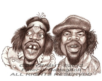 Outkast Poster Cartoon Caricature Art Print Limited Edition