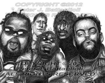 Dave Matthews Band Poster Caricature Cartoon Art Print
