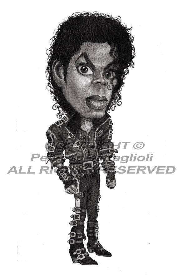 Michael Jackson Bad Caricature Art Limited Edition Print   Etsy
