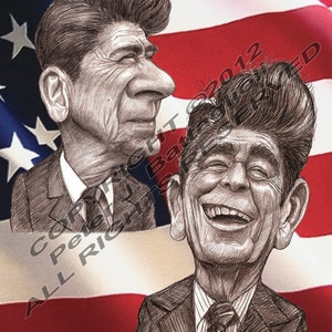 Limited Edition reprint painting of Ronald Reagan