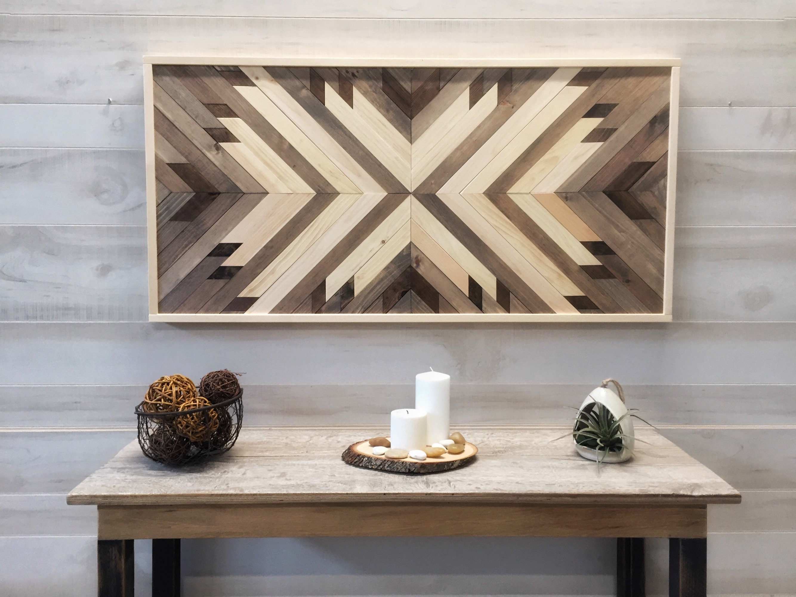 wood wall art wood wall decor modern farmhouse geometric art