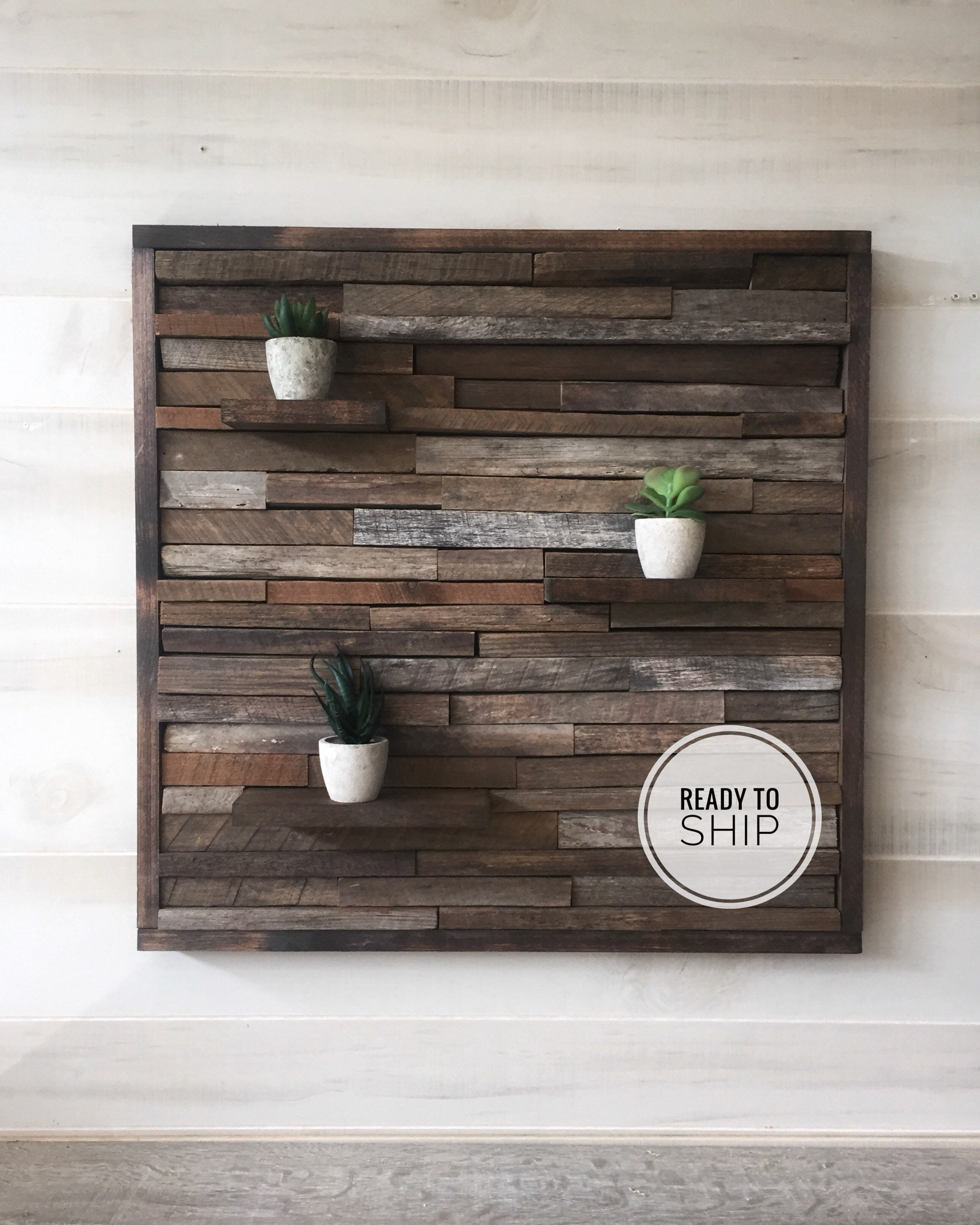 Reclaimed wood wall art, wood wall decor, rustic art ...