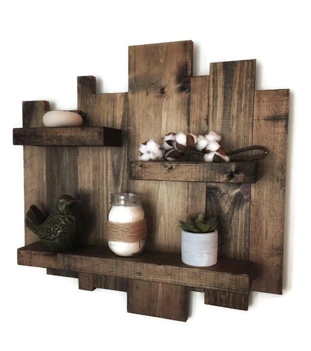 Rustic Wall Shelf, Reclaimed Wood Wall Shelf, Pallet Shelf