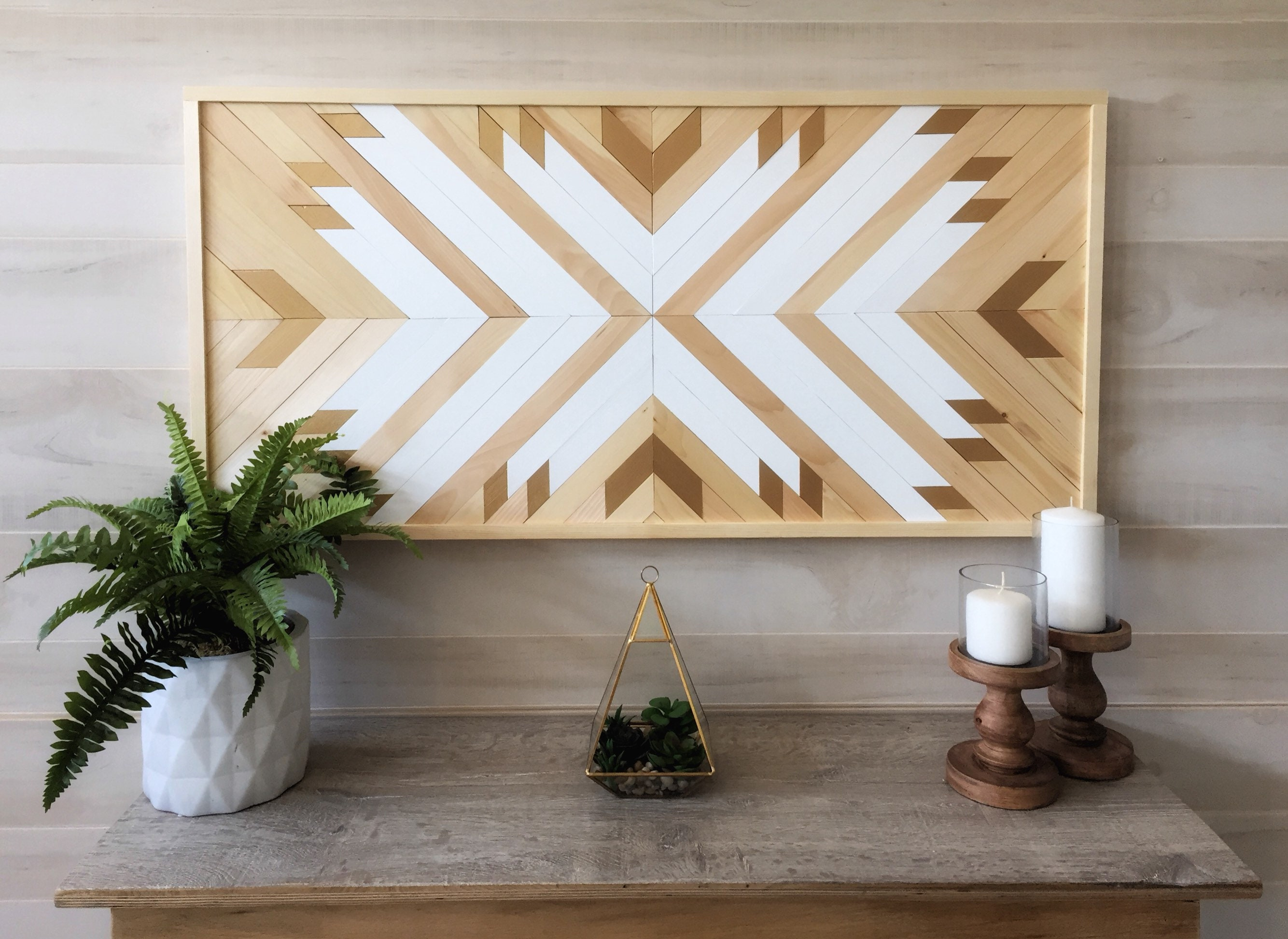 Wood Wall Art, Wood Wall Decor, Living Room Decor, Geometric Art, Modern Art,  Boho Decor