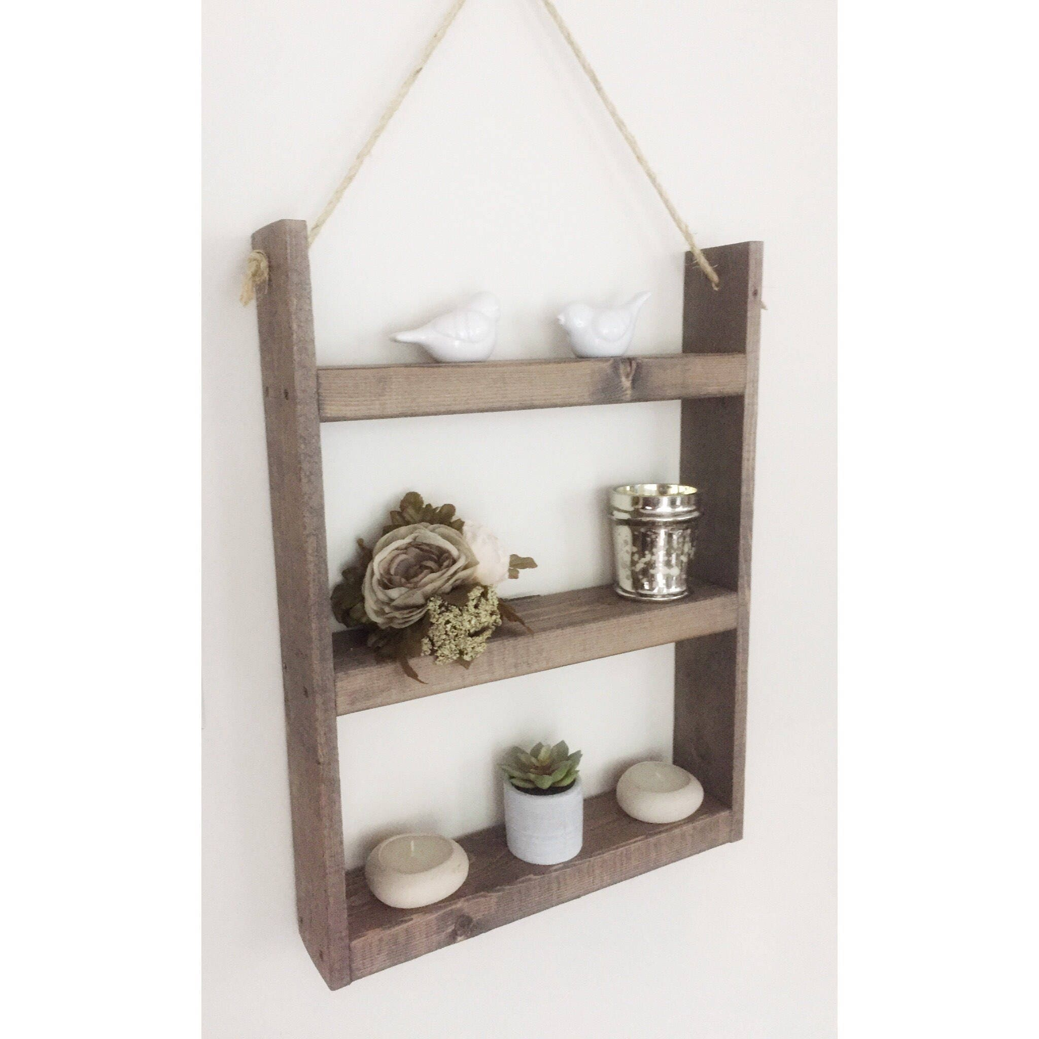 Rope Shelf   Bathroom Shelf   Kitchen Shelf   Spice Rack   Rope Hanging Wood  Shelf   Floating Shelf   Modern Farmhouse Decor