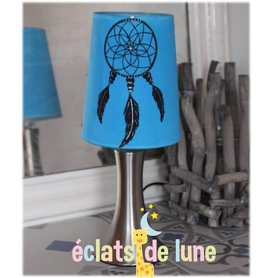 lampe touch attrape r ve fond bleu fonc avec pr nom etsy. Black Bedroom Furniture Sets. Home Design Ideas