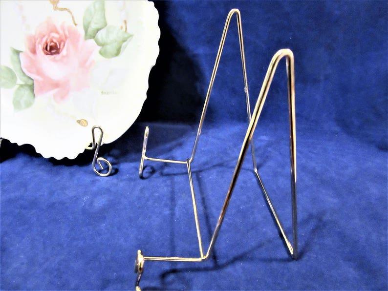 Easel Brass Plate Holder Display Art Craft Supplies Home Decor Large 2438L
