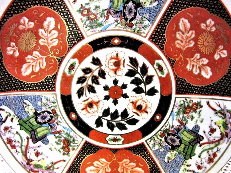 Oriental Plate Mid Century Wall Plate Imari Vintage Plate Decorative Plate