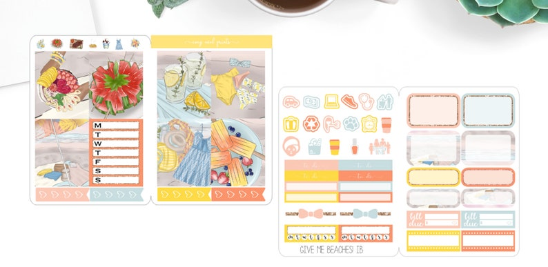 Itty Bitty kitweekly kit for happy plannerweekly kit for erin condrensummer kit GIVE ME BEACHES