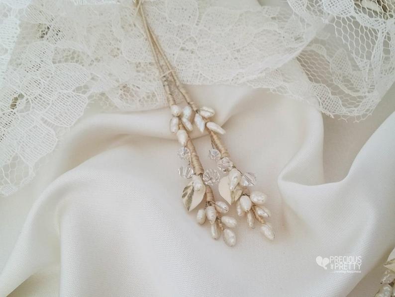 Wedding Crowns Greek Stefana Pearl Orthodox Crowns Rough Pearls Stefana Tiaras Stephana