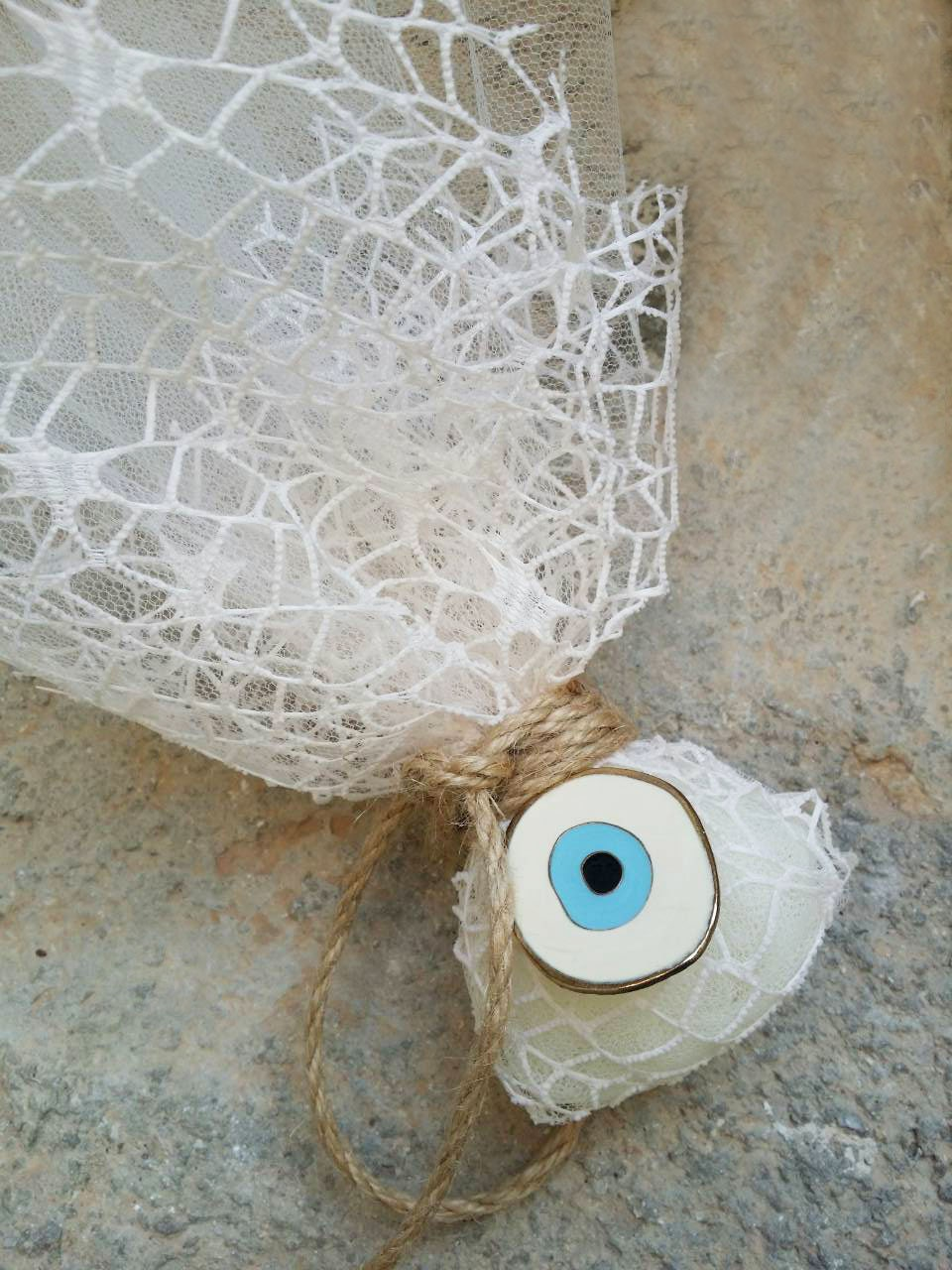 Greek Wedding Favors Evil Eye Charm Bombonieres Ivory Favor