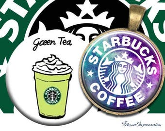 "Starbucks - 1 inch One 4x6 high-resolution, 300dpi, JPEG file with 15 1"" Circle"