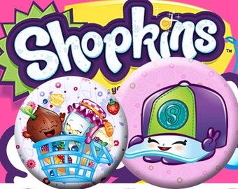 """Shopkins1 - 25 mm One 4x6 high-resolution, 300dpi, JPEG file with 15 1"""" Circle images."""