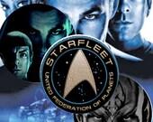 Star Trek -  Bottle Cap Images 1 inch on the paper A4 Digital Collage INSTANT DOWNLOAD