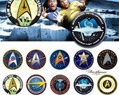 Star Trek -  Bottle Cap Images 4x6 Digital Collage INSTANT DOWNLOAD