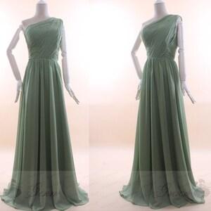 Pas Cher Demoiselle Dhonneur Robe Vieux Vert Sauge Verte Etsy