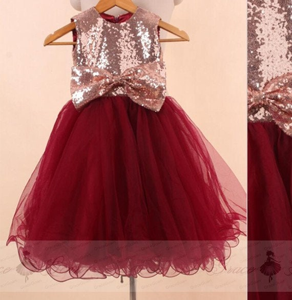 c6eab26ec7f Flowergirl Dress Rose GoldTulle Child Dress WeddingBall Gown