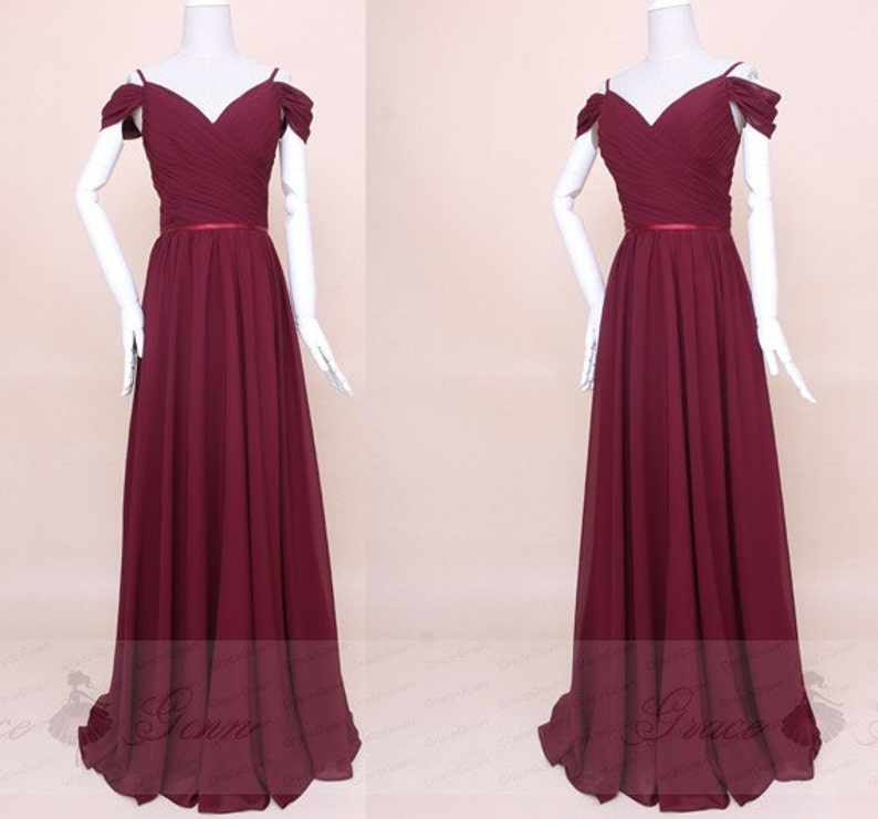 4271ff131aae Bridesmaid Dresses Burgundy Maxi DressOff Shoulder Ruched