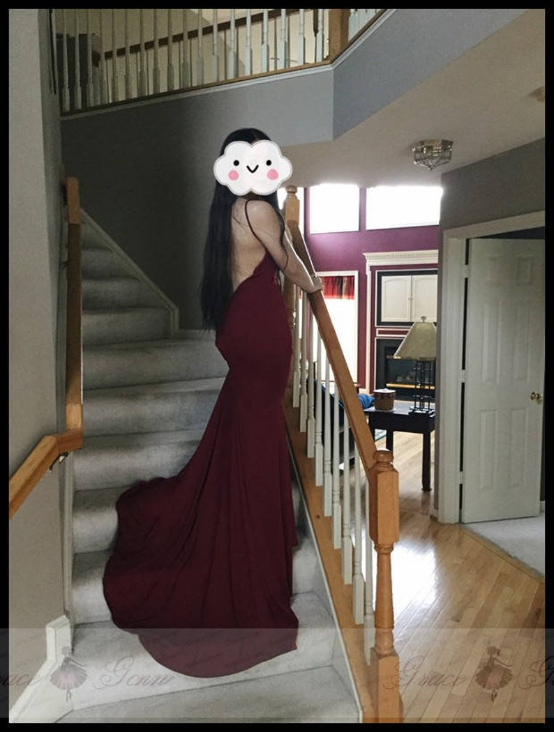 Sheath Wedding Dress On Stairs with Candles