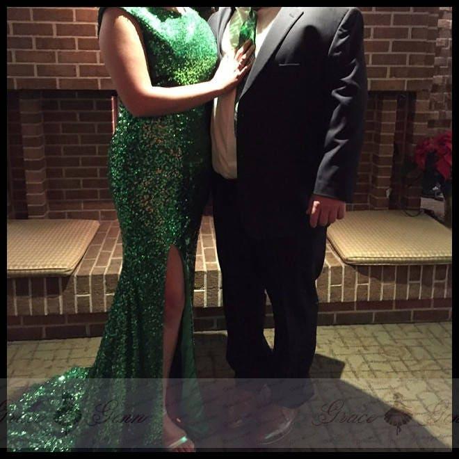 Emerald Green Bridesmaid Dress Sequin Dresslong Dresses For Etsy