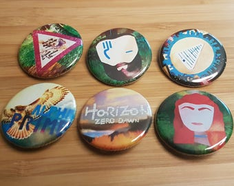 Horizon Zero Dawn Inspired Buttons OR Magnets