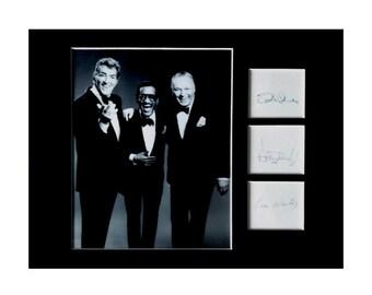 The Rat Pack Dean Martin Frank Sinatra Signed Autographed A4 Photo Memorabilia