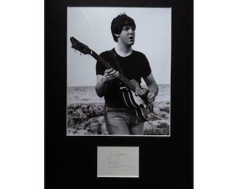 PAUL McCARTNEY AUTOGRAPH photo display