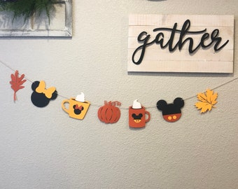 Mickey PSL banner, Mickey Mouse THANKSGIVING Banner, Minnie Mouse THANKSGIVING Banner, Fall banner
