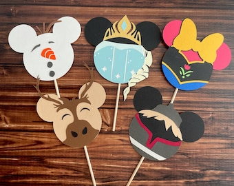 Frozen Ice Queen cupcake toppers, Frozen inspired cupcake toppers