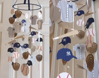 Baseball mobile you can CHOOSE YOUR COLORS! baseball mobile baseball nursery mobile, nursery decor, paper mobile baseball theme