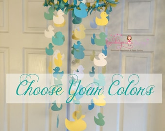 Ducky mobile Duck mobile you CHOOSE YOUR COLORS! nursery mobile, nursery decoration, paper mobile rubber ducky ducky nursery