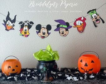 Halloween Mickey and Minnie clubhouse banner, Mickey mouse banner, Minnie Mouse Banner, Halloween banner
