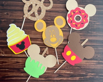 Mickey Mouse Treats inspired cupcake toppers, Mickey toppers