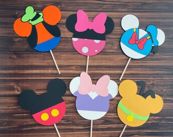 Mickey Mouse Clubhouse inspired cupcake toppers, Mickey's  Clubhouse