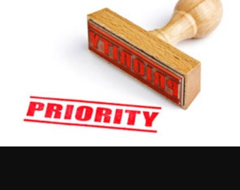 Add priority processing to your order, reduce the time before your item ships