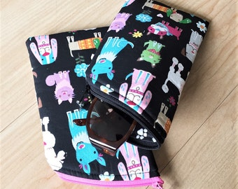 Sunglass Case, Eyeglass Case, Zippered Case in Dogs