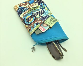 Sunglass Case, Eyeglass Case in Surfs Up