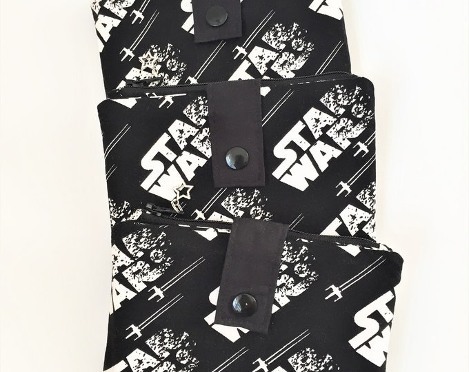 Featured listing image: Star Wars Wallet, Small Wallet, Zipper Wallet, Folding Wallet, Fandom Wallet, Travel Wallet