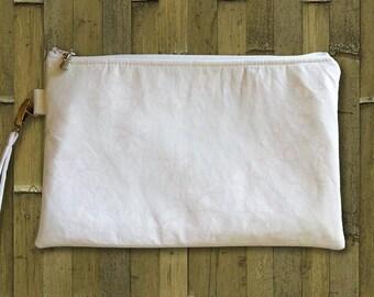 Clutch, Wedding Clutch, Bridal Clutch, Clutch Purse, Tropical Bag, Hawaiian Purse, White Plumeria or Palm Leaf Print