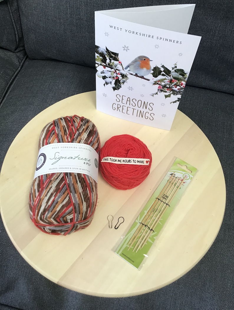 West Yorkshire Spinners Robin Sock Knitting Kits Cayenne Inc. Needles