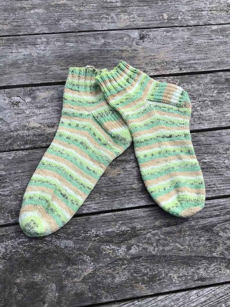 Hand Knitted Socks Kiwi 5.5-6.5