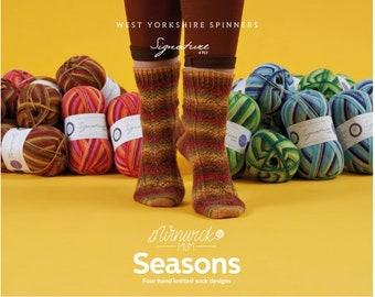 WYS Seasons Winwick Mum Sock Pattern Book