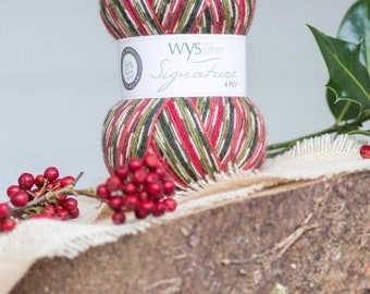 West Yorkshire Spinners Signature Holly Berry 4 Ply Sock Yarn
