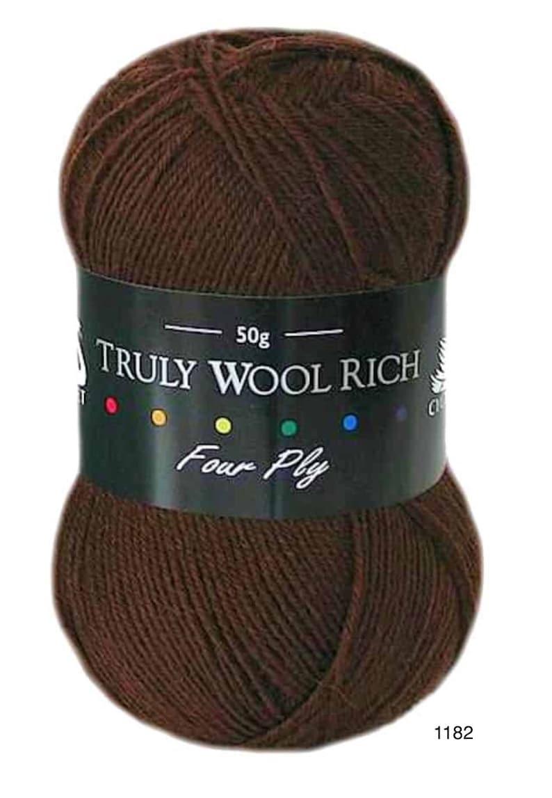 Cygnet Truly Wool Rich 4 Ply 1182 Chocolate