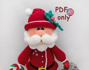 Crochet pattern - Santa amigurumi Christmas doll (English)