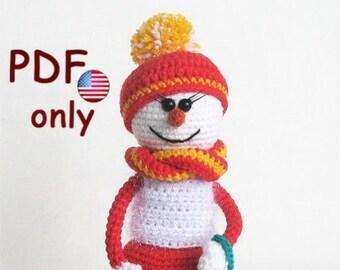 Crochet pattern - Snowlady amigurumi Christmas doll (English)