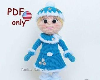 Crochet pattern - Winter doll amigurumi Christmas Doll (English)